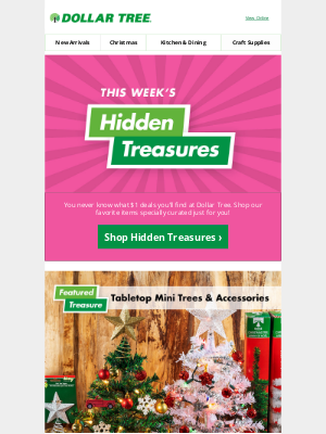 Dollar Tree - Discover Holiday Hidden Treasures...