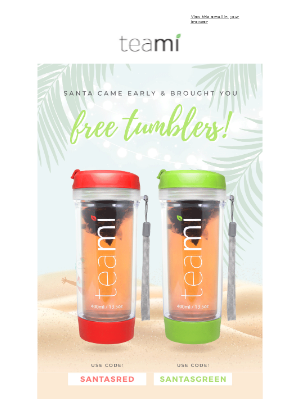 [Last Chance] FREE red & green tumblers🎅🏽💚