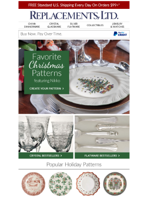 Replacements - Shop Our Favorite Christmas Patterns (Customer #19762580)