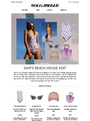 Wolf & Badger - Our Head Of PR Shares Her Beach House Edit 🏝