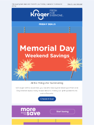 Memorial Day Weekend Savings | New Cash Back Offers