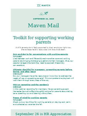 Maven - Your free toolkit for supporting working parents