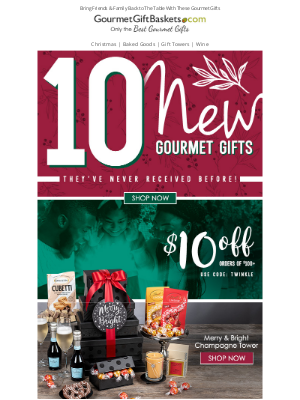 GourmetGiftBaskets - 10 Gourmet Gifts For Their Holiday Table 🍰