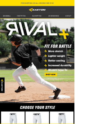 Easton Slowpitch - AVAILABLE NOW: Easton Rival+ Pants Available In 3 Styles