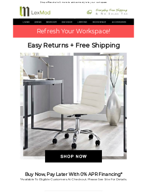 Lexmod - Refresh Your Workspace + Free Shipping!
