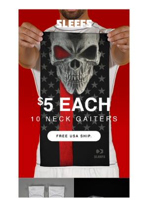 Neck Gaiters / Face Covers from $5 Each!