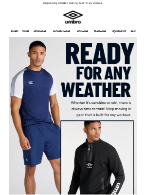 Umbro (UK) - Time for that Spring Shake-Out? We've got you covered.