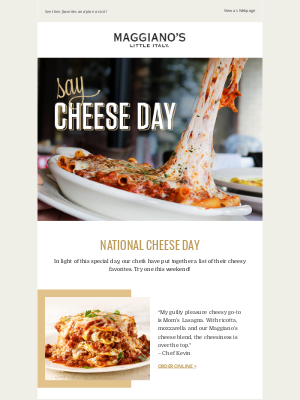 Maggiano's Little Italy - Here's what our Chefs think about National Cheese Day!