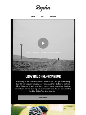 Rapha - The further away, the better – Watch our latest film now