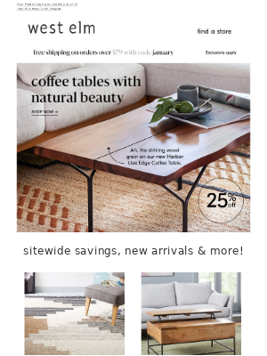 🔵 natural wood coffee tables 🔵