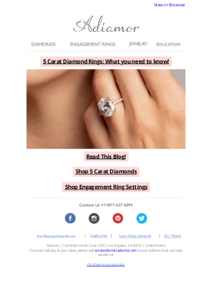 Adiamor - Engagement Rings? Anniversary Upgrade? Celebration Present?