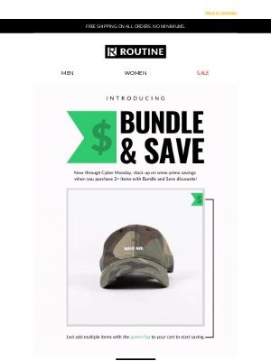 Routine Baseball - Bundle And Save is LIVE!. Save now.