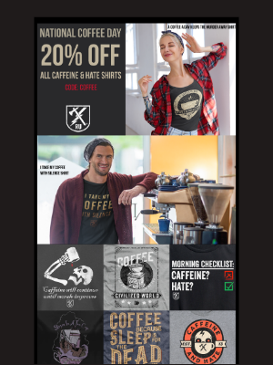 Ranger Up Military and MMA Apparel - ☕ It's National Coffee Day! Save on Caffeine & Hate! ☕