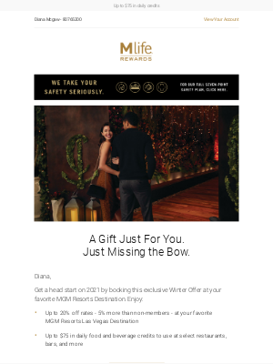 MGM Resorts - It's cold out...bundle up with this Las Vegas Offer!