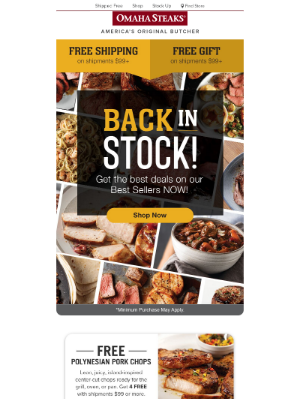 Omaha Steaks - Get the Best Deals on Best Sellers! Plus, Free Shipping & Free Food.