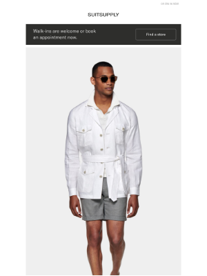 Suitsupply - Now In: The White Safari Jacket
