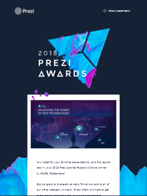 Announcing: The winner of the 2018 Prezi Awards People's Choice!