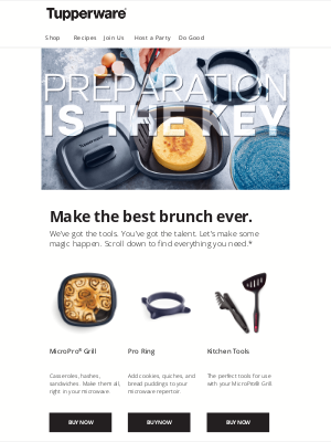Tupperware - What's the key to a perfect brunch?