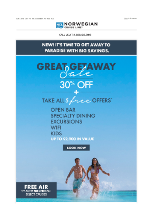 Norwegian Cruise Line - NEW! Don't Miss Our Great Getaway Sale.