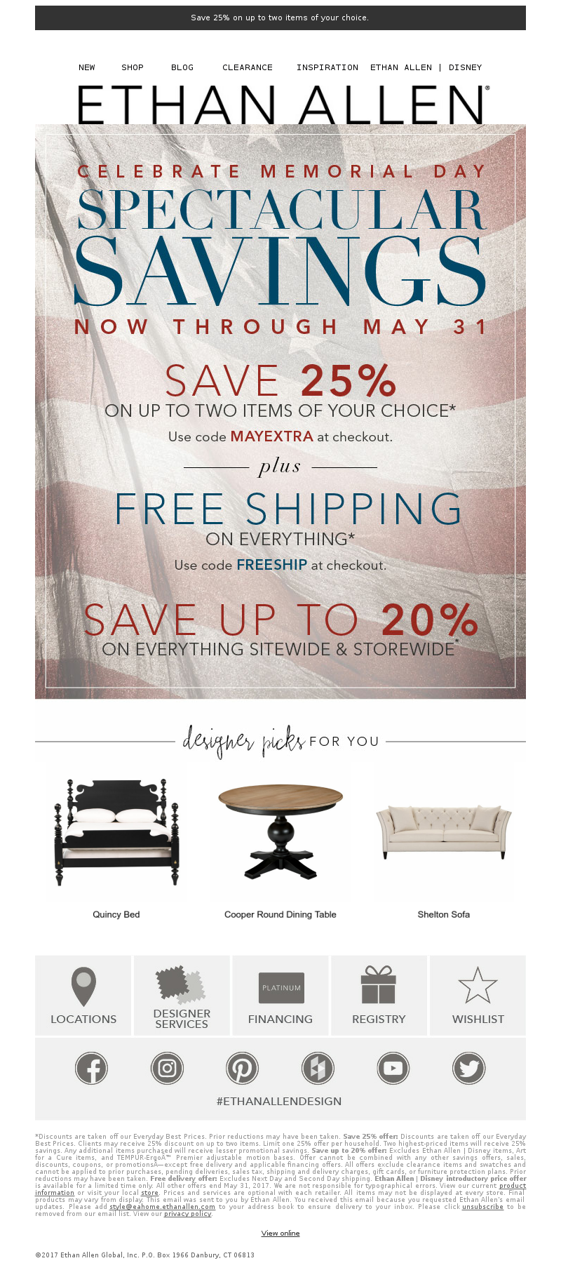 Save 25% on up to two items of your choice. NEW SHOP BLOG CLEARANCE INSPIRA