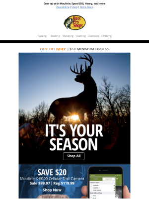 Bass Pro Shops - Score great hunting gear from top brands