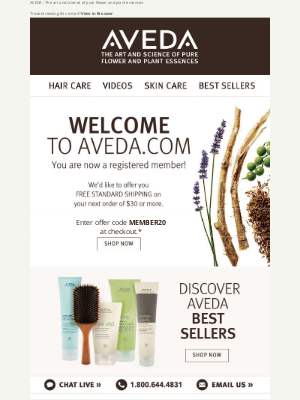 Aveda - Thank you for registering at aveda.com