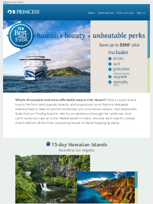Princess Cruises - See the top-rated Hawaiian islands on one cruise 🌴