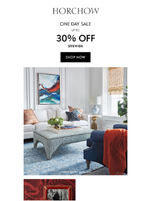 One Day Sale: 30% off sitewide + Jay Strongwater gifts