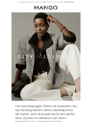 MANGO (US) - CITY ANIMALS | Functional but cool, contemporary but timeless