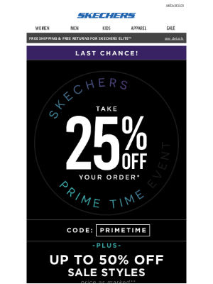 SKECHERS - Don't miss these prime deals!