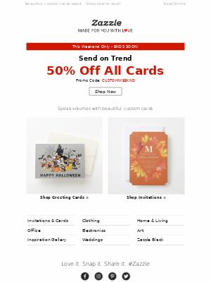 Ends SOON!📝 50% OFF Beautiful, Custom Cards