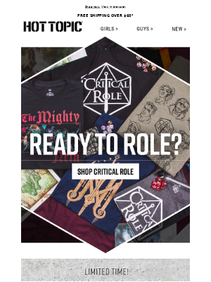 Finally! Critical Role tees are HERE!