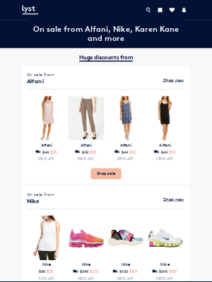 Lyst - More sales: Huge discounts off Alfani, Nike and more