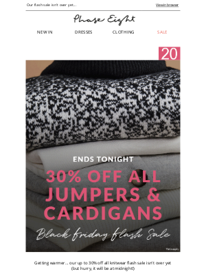 Phase Eight (UK) - 30% off ALL jumpers & cardigans | Ends midnight