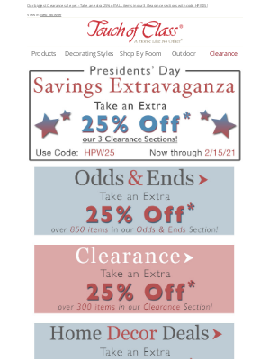 Touch of Class - A Presidential-Size Savings Extravaganza 🇺🇸