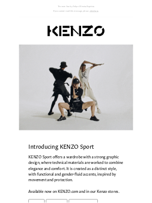 Kenzo - Available now | The new KENZO Sport collection