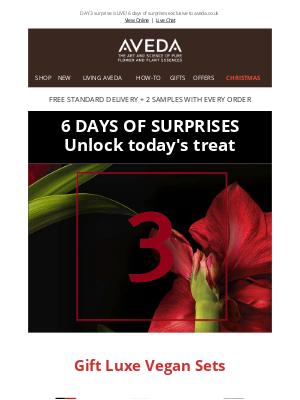 Aveda (UK) - Hurry! Unlock DAY 3 surprise now