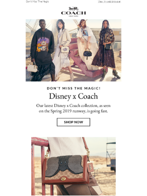 Disney x Coach is here—and going fast.