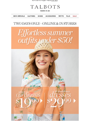 Talbots - $29.99 Dresses + $19.99 Cardis = Outfits Under $50!