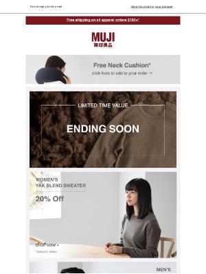 MUJI - Ending soon – Yak Wool Sweaters & winter apparel