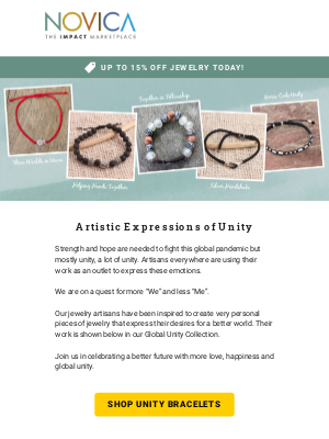 Introducing our Global Unity Bracelets… plus all Jewelry on Sale
