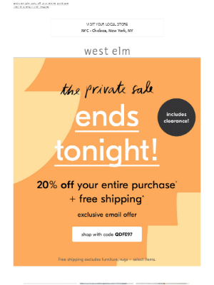 >> Private Sale ends tonight <<