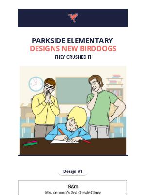 Birddogs Shorts - Parkside Elementary Designs New Birddogs