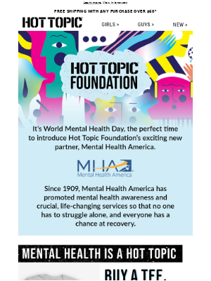 Meet Hot Topic Foundation's newest partner, Mental Health America.