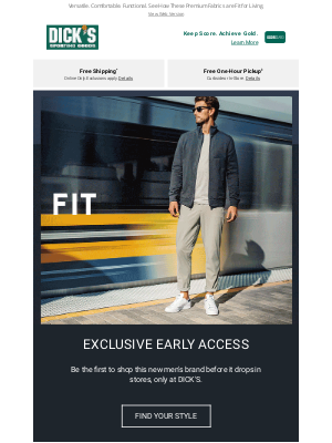 DICK'S Sporting Goods - Introducing VRST: Men's Activewear as Versatile as You