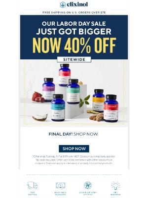 Elixinol - Surprise! Now save 40%!