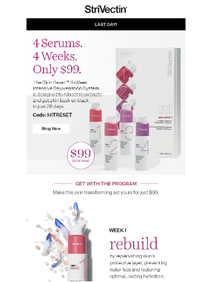 Last Chance: Our Skin Reset for $99 Ends Tonight!