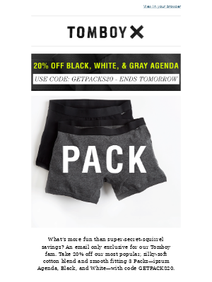 20% Off our Top 3 Packs