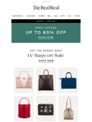 The RealReal - Take $30 Extra Off LV Bags On Sale