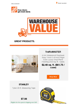 The Home Depot (CA) - Great products, great Warehouse Value